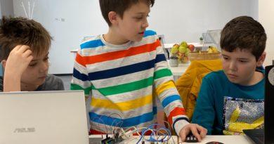 copii invatand online